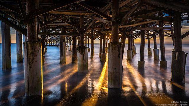 Under the pier  #pier #sunrise #sea #florida #cocoabeach #niclasjonssonphotography #photosergereview