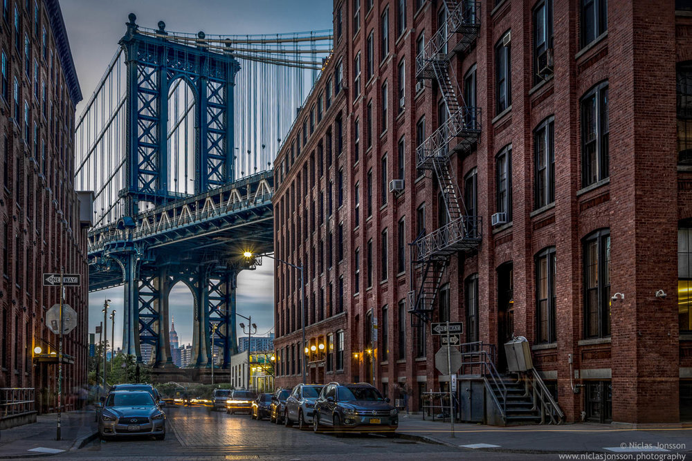Manhattan Bridge, New York, US, June 2016