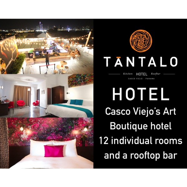 TANTALO   - An art boutique hotel with 12 individually designed rooms by local creatives and an stylish rooftop bar with amazing views