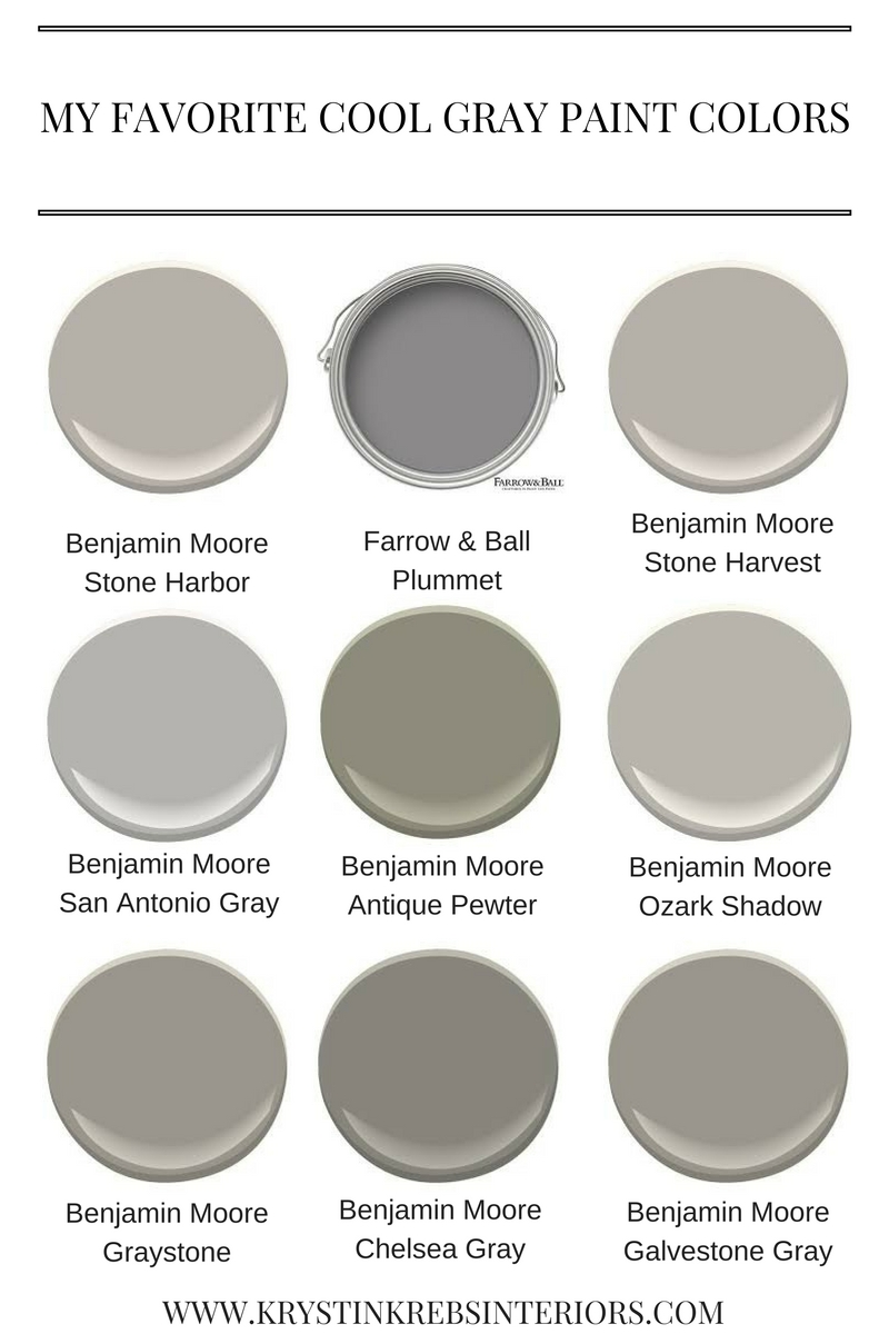 My Favorite Cool Gray Paint Colors Krystin Krebs Interiors
