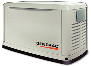Perfect for most residential applications, we can supply you with Generacair-cooled automatic standbygenerators from 6 kW - 22 kW. These generators run on Natural Gas or Liquid Propane.