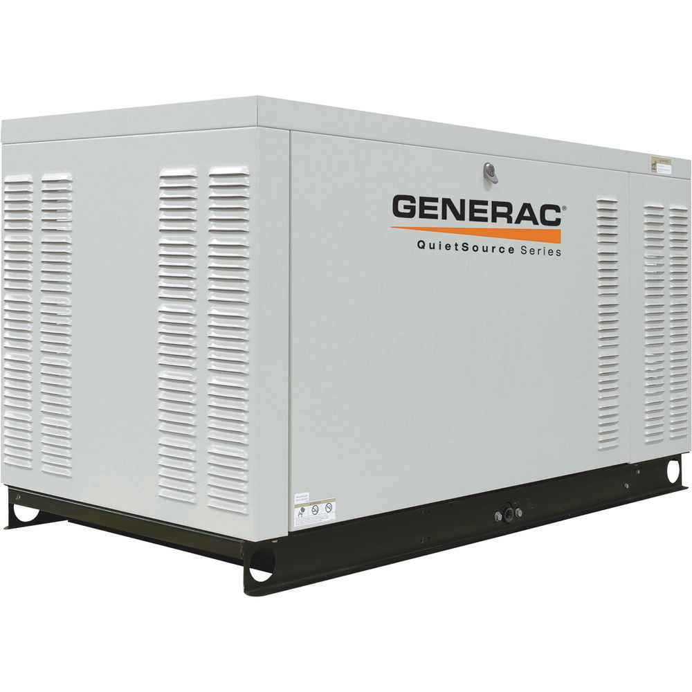 Generac QuietSource automatic standby generators are built with low-speed liquid-cooled engines for extra-quiet operation.
