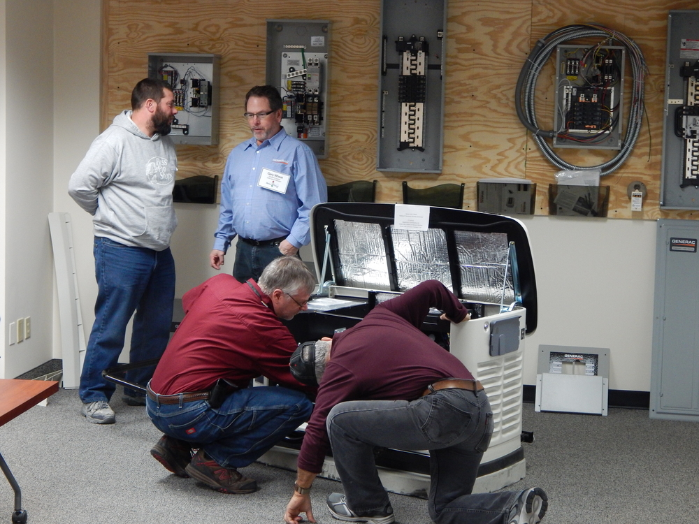 better power generator installation training class