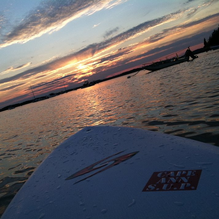 sunset paddle north of Boston