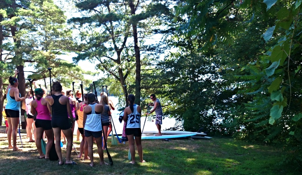 Paddleboard camp on Cape Ann
