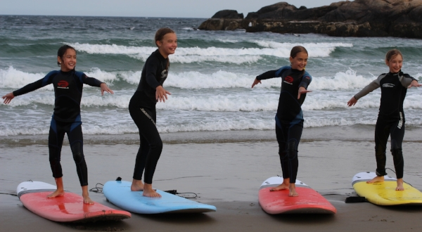 Group Surf Lessons on Cape Ann