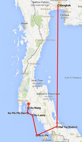 Thailand route