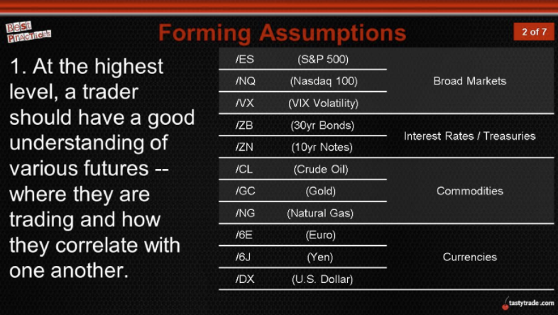 market assumptions