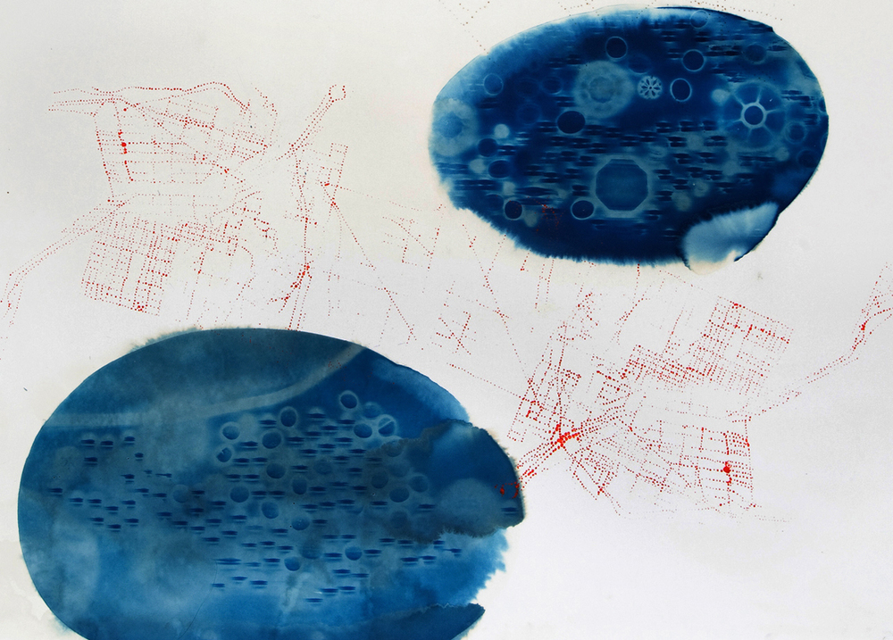 Chemistry is the Emotion of Matter, cyanotype series, #4 (detail)