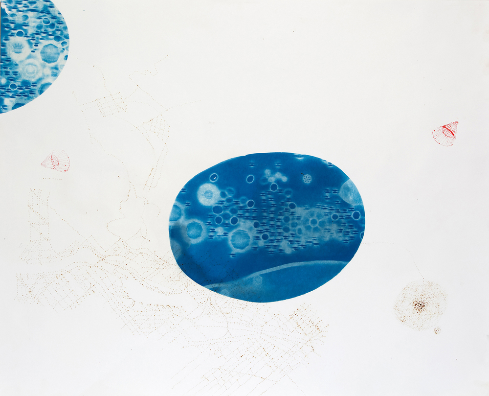 Chemistry is the Emotion of Matter, cyanotype series, #5