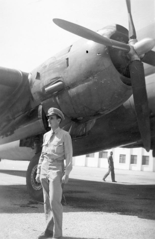 Major Tom in WWII in front of his plane