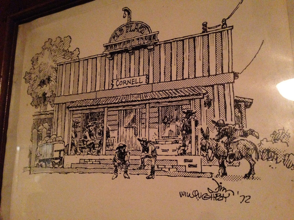 Sketch of The Old Place by Jim Willoughby