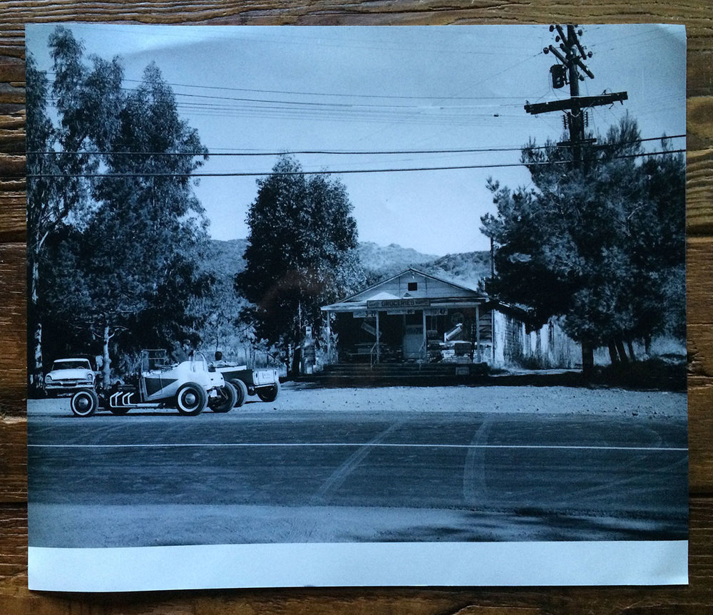 Funny Cars in front of The Old Place when it was still The Country Store