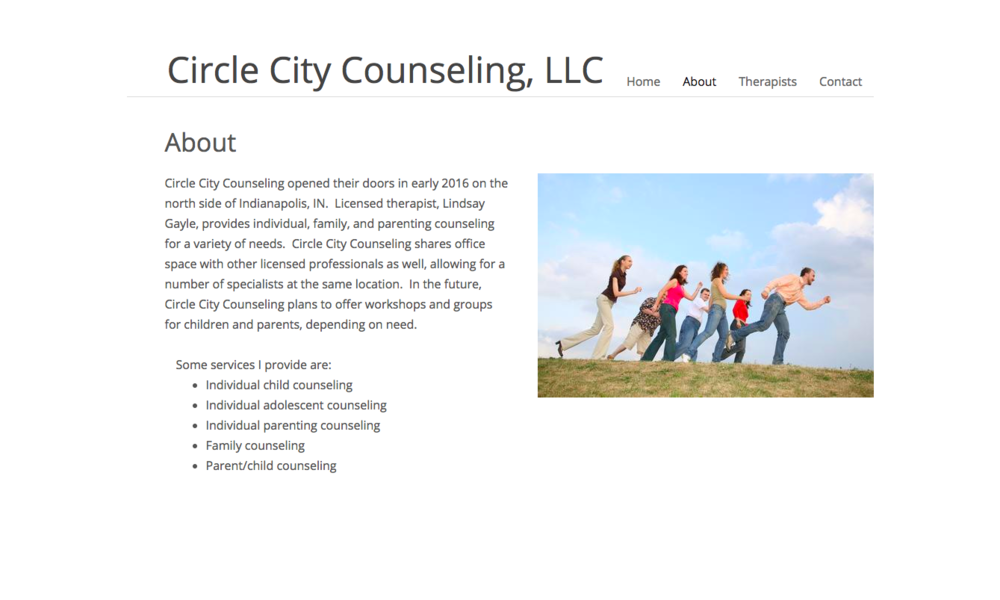 Lindsay's  Circle City Counseling  website