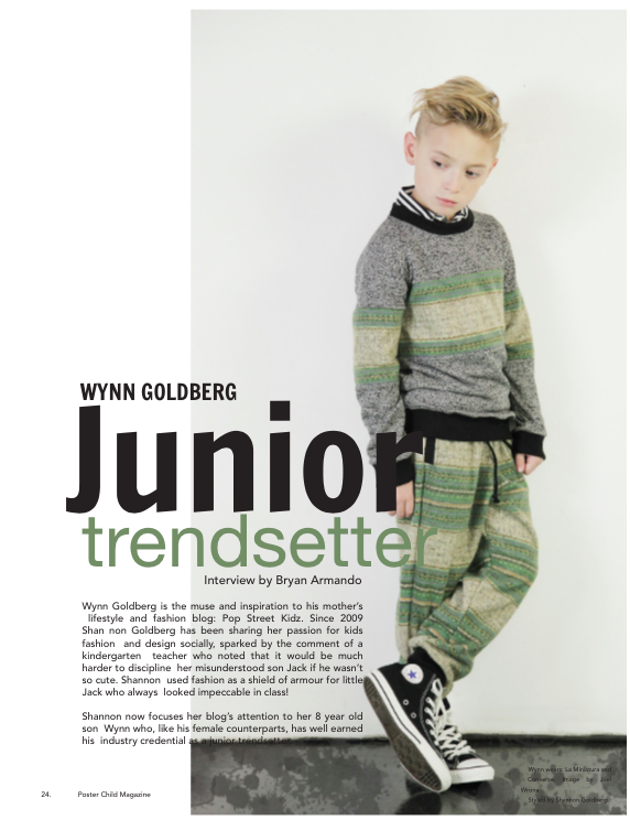 Wynn Goldberg Poster Child Magazine Junior Trendsetter