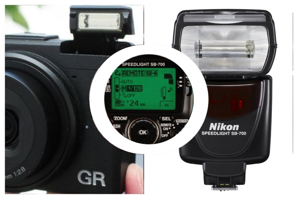 Ricoh internal flash + remote external flash