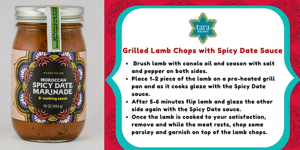 Recipe Card: Grilled Lamb Chops with Spicy Date Sauce