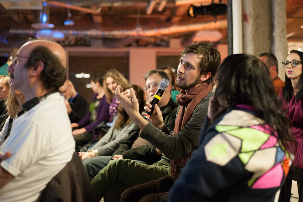 In December 2013, SF Basecamp hosted a Glass demo/Q&A event with members of the Exploratorium team.