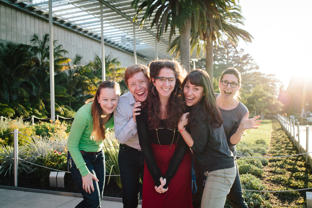 The Cal Academy team was all smiles on their first day with Glass.