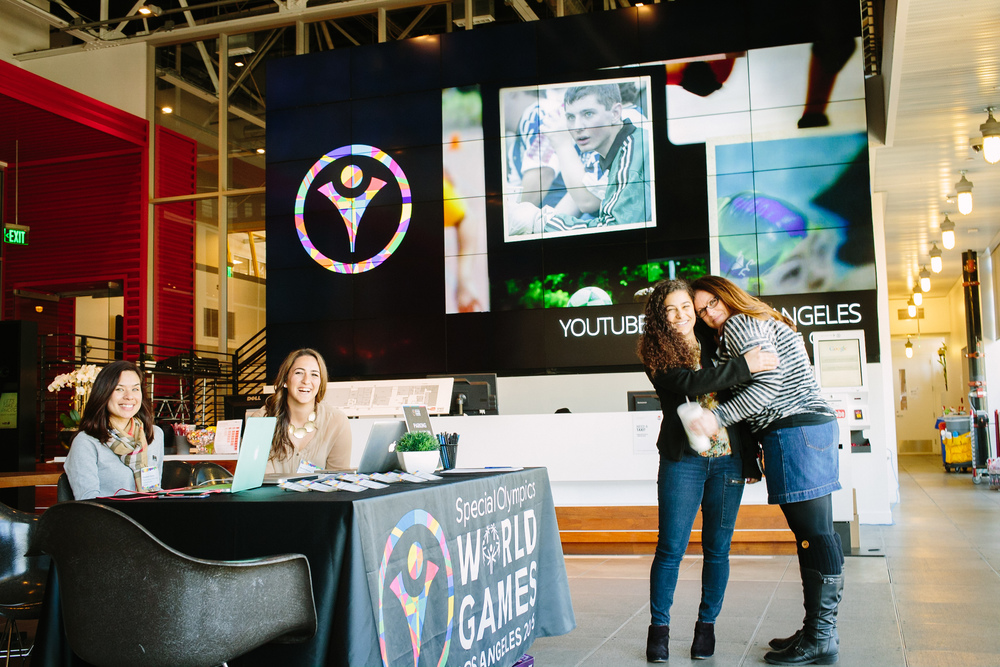 Google is an official sponsor of this year's Special Olympics World Games in LA. In February 2015, SOWG hosted a Social Media Summit for sponsors at Google's YouTube LA space.