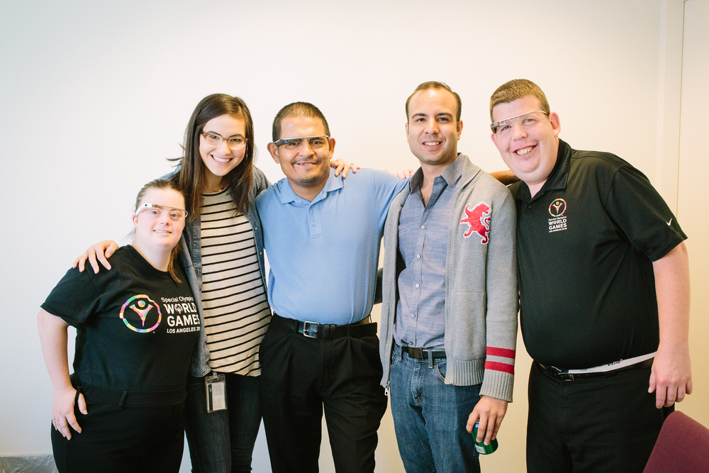 Five Special Olympics World Games athletes/ambassadors attended a Google-facilitated Glass training in February 2015. The athletes will use Glass to share their firsthand perspectives of moments leading up to the Games.
