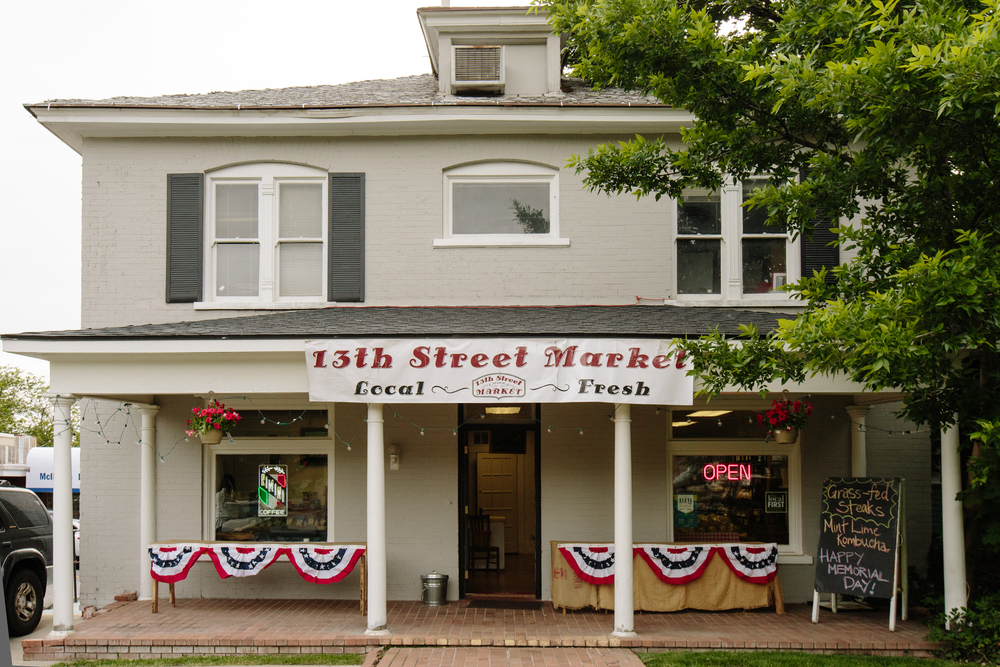 The University neighborhood includes the 13th St. Market, selling local coffee, produce, and other staples, and is just three blocks away from Hannah's home. Within a mile from Hannah's house are two large grocery stores and a Trader Joe's.