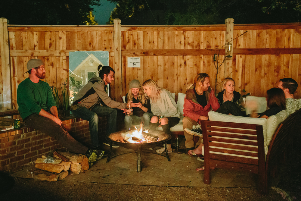 Backyard gatherings of friends and neighbors happen often.