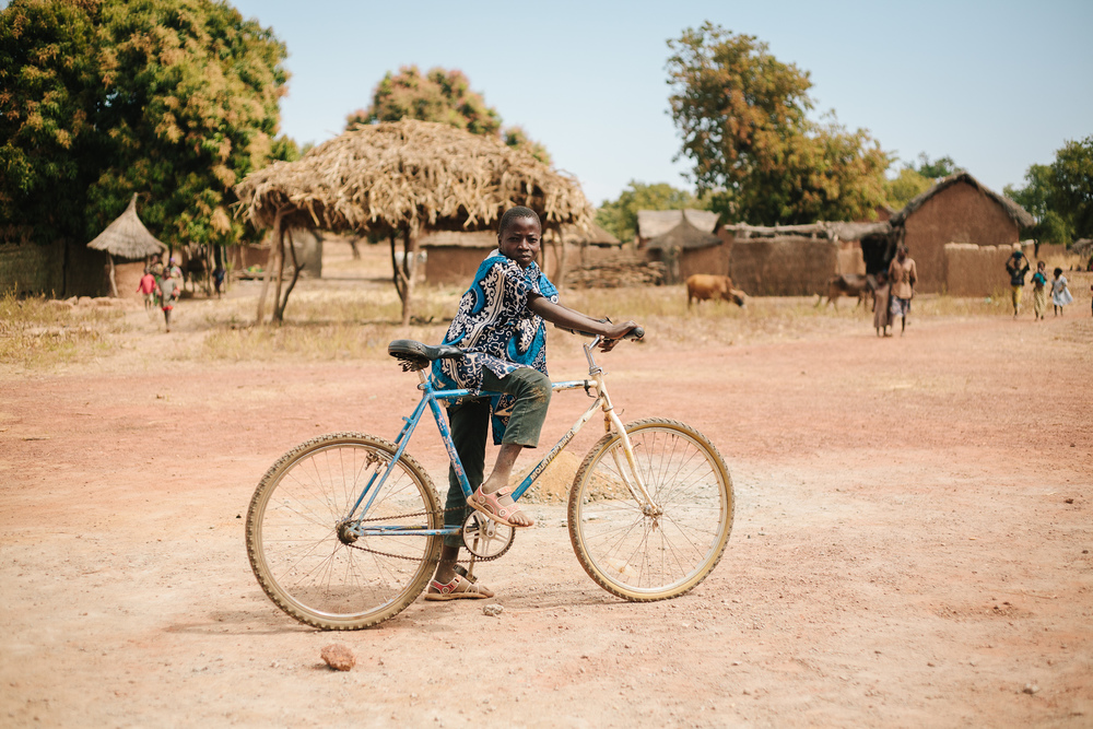 Moussa Samake will be a member of Beneko's first 7th grade class. Instead of a long bike ride each morning and evening, he'll be able to continue attending school in his village.