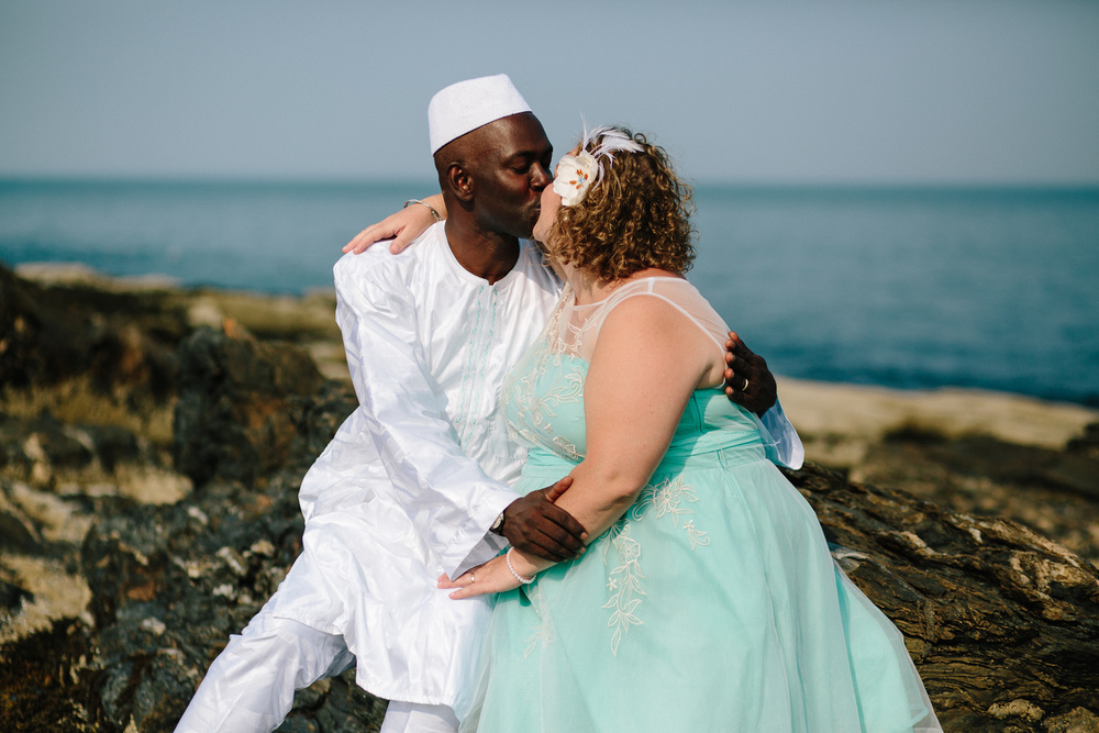 Demba Boundy and Amy Faulkingham met through a Facebook connection and subsequently fell in love, though he lived in Mali and she in Maine. They married in the summer of 2015 at Two Lights State Park.