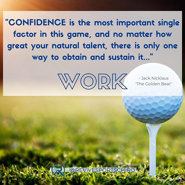 Work is often the differentiating factor for success, not talent.  Talent is useless unless it is directed toward a certain goal or outcome.  Whether you are a runner 🏃🏻, weightlifter 🏋️, golfer 🏌️, swimmer 🏊‍♀️, cyclist 🚵‍♂️, tennis player 🎾, triathlete, ultimate frisbee player, etc.  you have to put in the WORK. ▪️ As you watch the Masters this weekend, those playing put in a tremendous amount of time, effort, and sacrifice to be invited to this tournament.  You will see the best golfers in the world, heading out hours before their round to stretch, warm-up, study the course and hole locations, chip and putt over and over, to prepare themselves for this one round. ▪️ Anything you want to accomplish; Sports, life, business, or otherwise, takes WORK!  Work allows you to best use your talents.  Work prepares you for when an opportunity presents itself (some call this luck). Work also makes you a great example for those around you. Be the hardest (and smartest) worker in the room, it will pay off.  #saltlakecity #motivation #revivesportspine #golfquotes