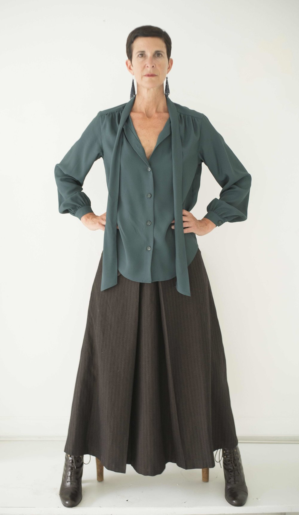 Miro blouse and Sandrine skirt
