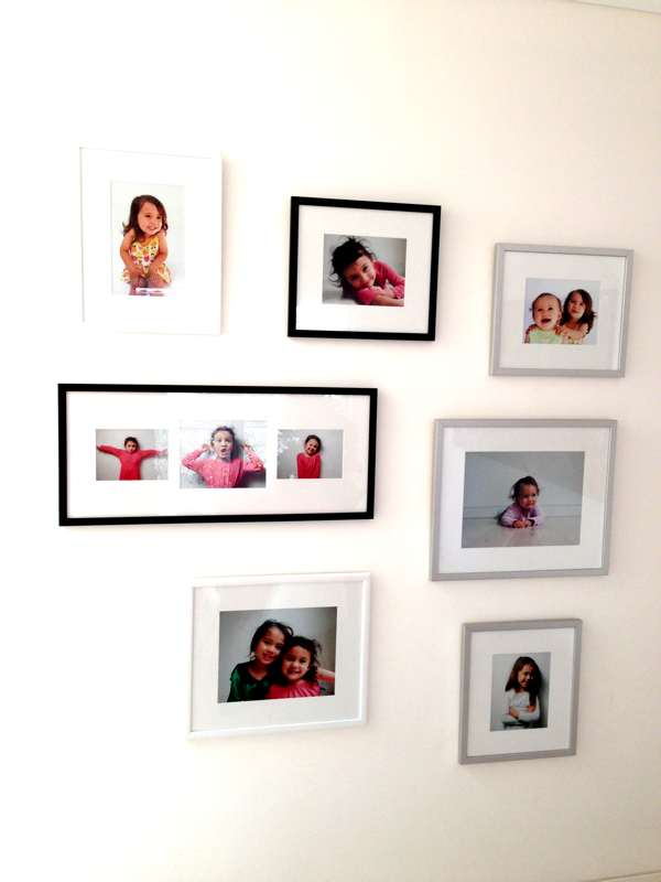A professionally hung picture wall  (picture courtesy of client)
