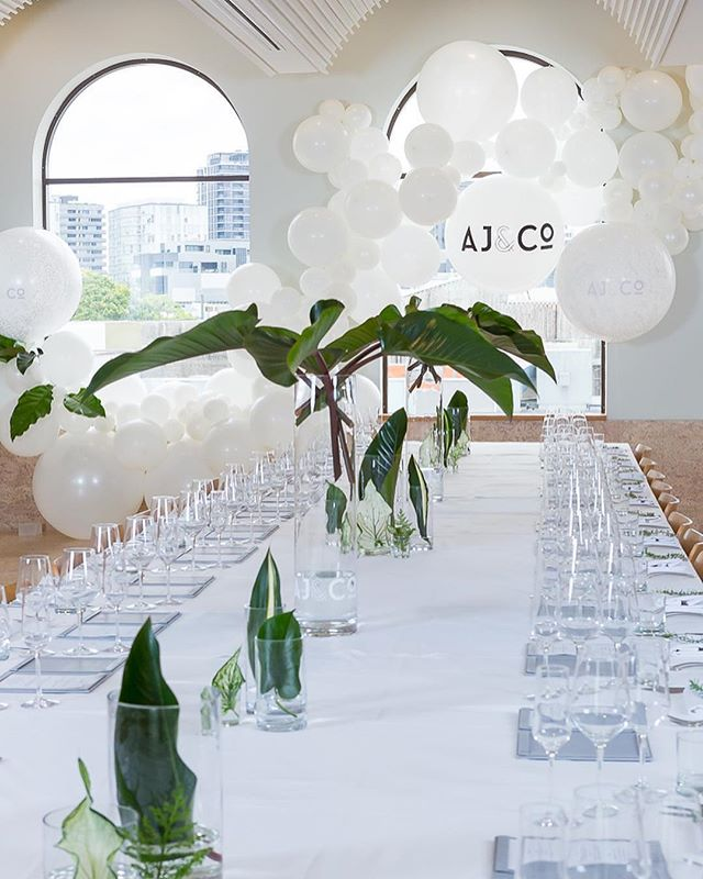 Keeping it fresh, crisp white and tropical green for a corporate Christmas celebration on Friday.🎄 Styling @celebrationsbyalysia Image @deluxemediaweddings  Florals @thebellabloomco : : : #thebellabloomco #thebeautifulflowercompany #abiadesignerofdreams2018 #abiadesignerofdreams2017 #brisbaneweddingflorist #tropical #greenandwhite #brisbanecorporateflorist #christmaspartystyling #christmas #corporatechristmasparty #celebrateinstyle #congaleaves #calathea