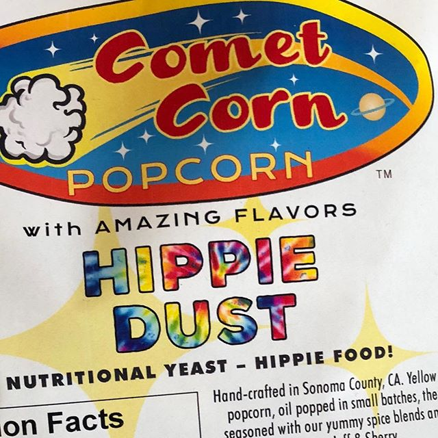 Ok, I'll admit it. I bought a bag just to see what Hippie Dust' flavor actually taste like. Oddly enough it has the same flavor profile as regret.  I should known I was in trouble when I opened the bag, it asked me if I could spare some change.. Seriously though, instead  of Comet Corn, they should have called this stuff 'Hey man'. I'm gonna go brush my teeth now.. #iamklyce #mylife #hippiedust #funnyfood #humboldtcounty #funnyshit