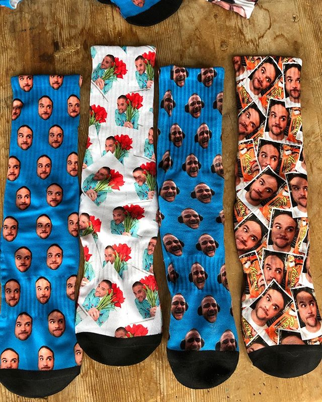 What can I say, my friends are just the coolest motherfuckers out there.  My buddy's girlfriend just gave these to me. Totally out of the blue.  Yes, those are sox with my face on them. I own these now. These are mine..!! #iamklyce #funfashion #mylife #sf #socks #fashion #mysocks