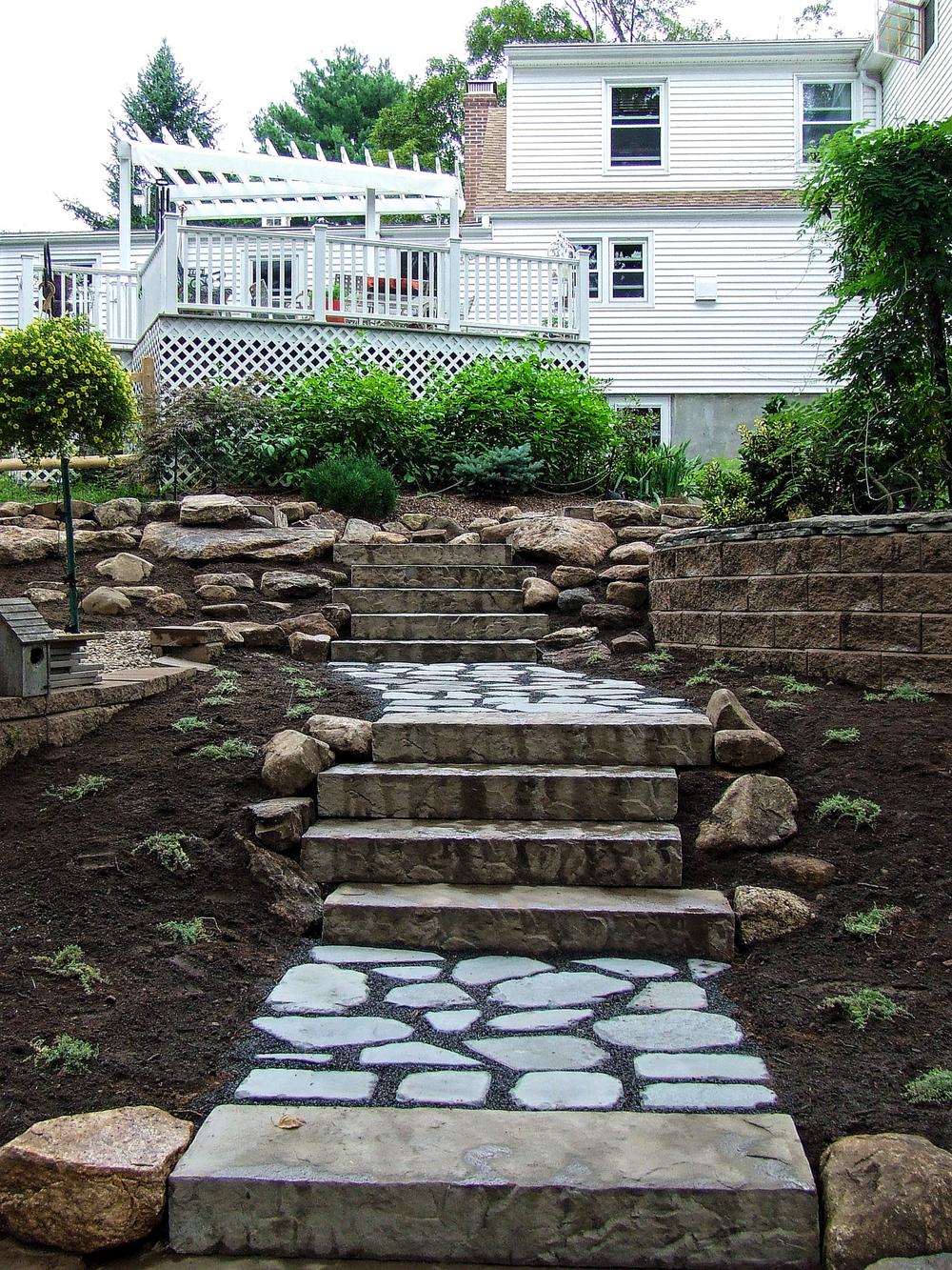 Ct Hardscape Design Stone Steps