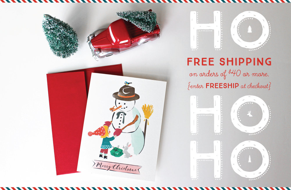 "So much beauty this season!  Choose from our extraordinary selection of single and boxed greeting cards and get Free Shipping while you're at it.  Peruse our cards, select the ones you love, and finally just type in ""FREESHIP"" at checkout!  Voilá!"
