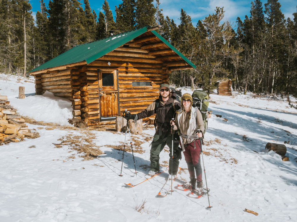 Hut trip! We love hiking to the Tennessee Mountain Cabin at Eldora Mountain Resort