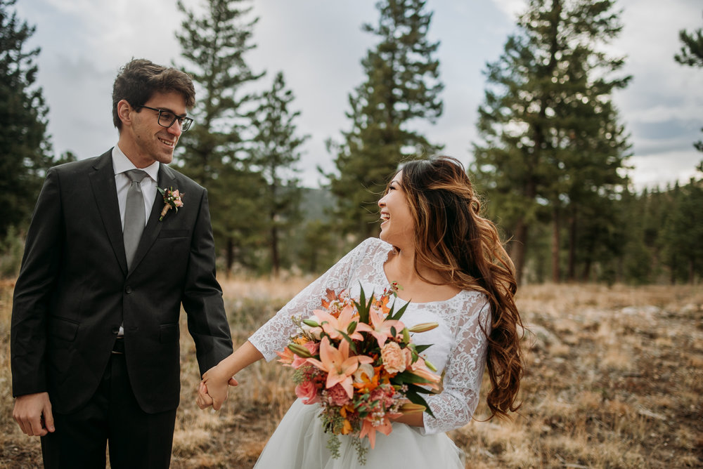 We had so much fun on this fall elopement in the Rocky Mountains!