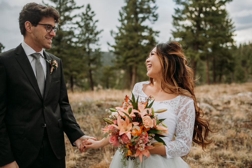 We had so much fun on this autumn elopement in the Rocky Mountains!