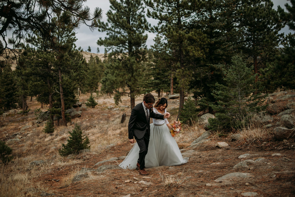 We had so much fun on this fall elopement in the Rocky Mountains! They even brought their dogs!