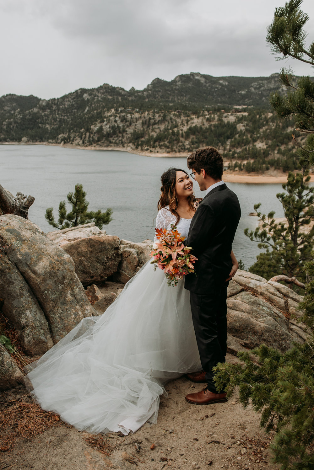 This gorgeous spot overlooking Gross Reservior is perfect for an elopement wedding.
