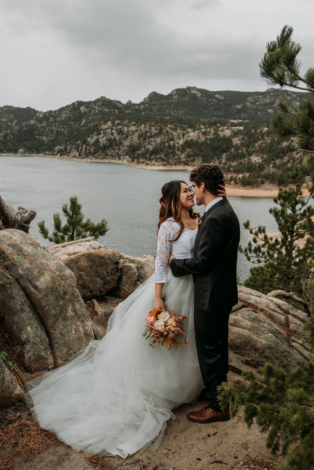 The wind in Colorado today was perfect for wedding photos.