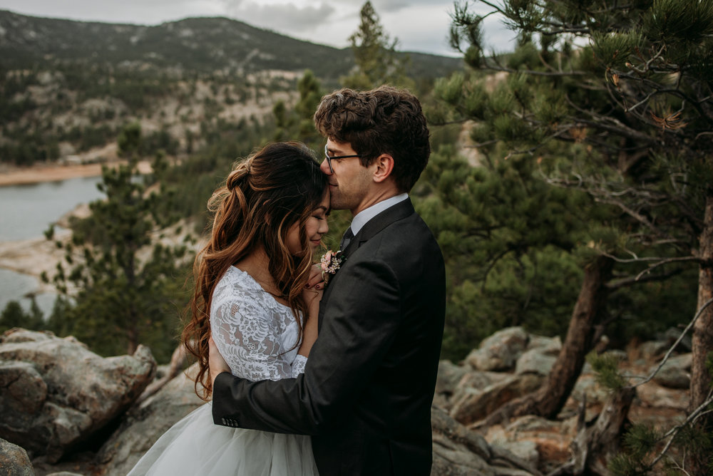 A relaxing wedding day in the Rocky Mountains is the perfect small wedding.