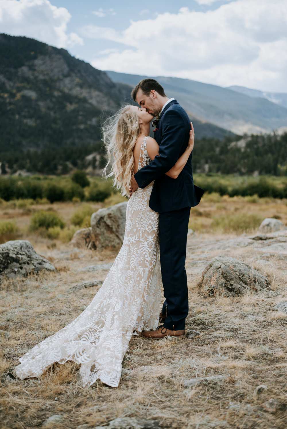 Check out this boho Rocky Mountain National Park wedding.