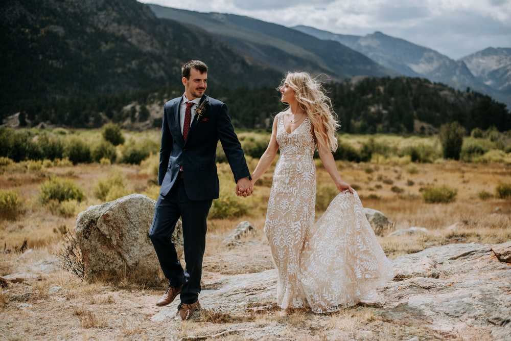 Check out this boho Rocky Mountain National Park summer wedding!