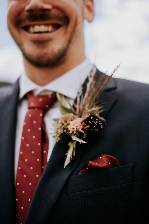 Groom attire for a Rocky Mountain National Park wedding.