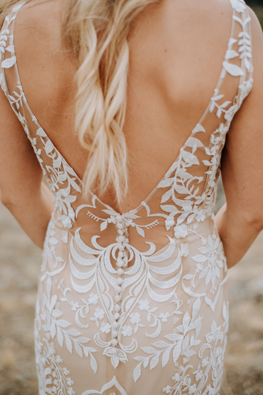 Gorgeous boho lace wedding dress.
