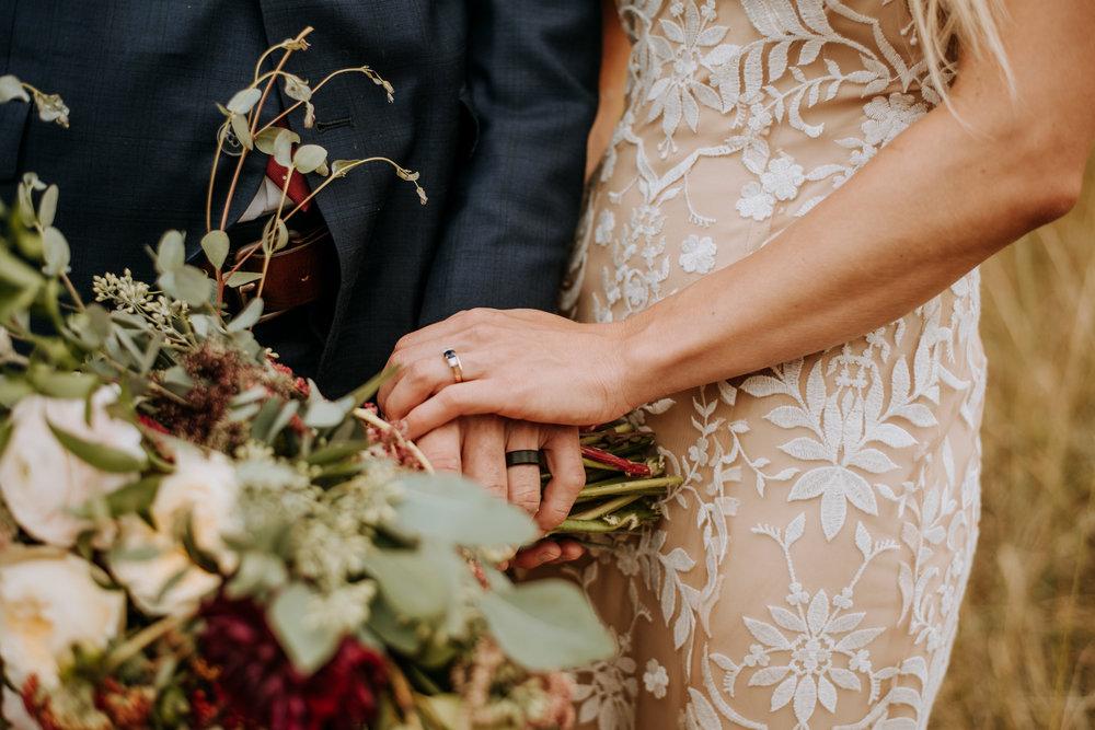 Rocky Mountain National Park wedding bouquet.