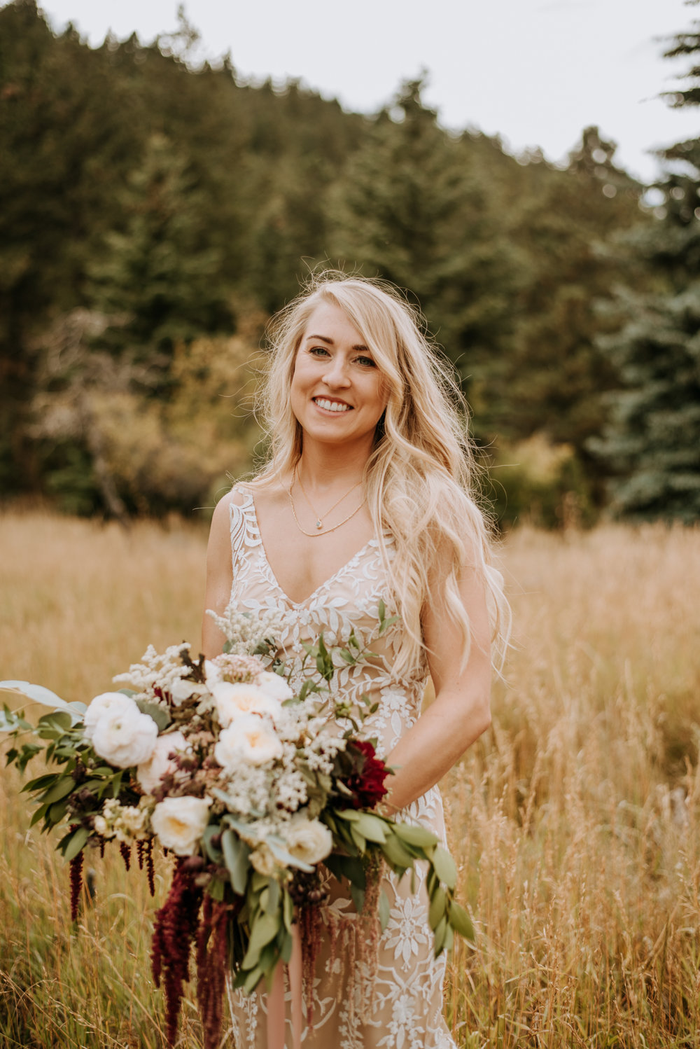 Stephanie made a gorgeous bride on her wedding day! Love this RMNP wedding.